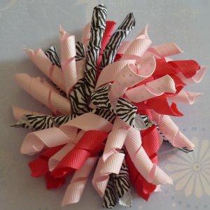 Korker Bow - Pink Zebra Print