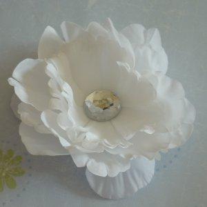 Flower Hair Clip - White