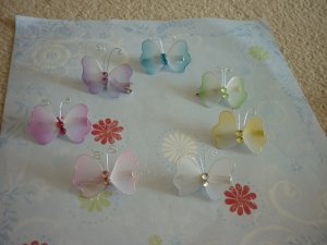 Set of 7 Small Butterfly Hair Clips