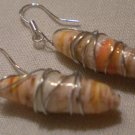 Peachy Paper Bead Earrings
