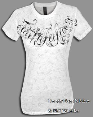 NOTW White Tattoo CHRISTIAN FAITHFULNESS Large & Medium T-Shirt