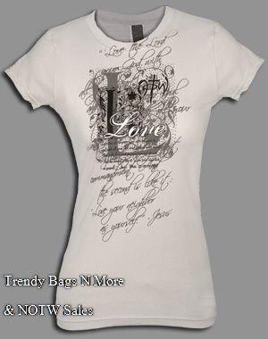 NOTW Gray Christian GREATEST COMMANDMENT Medium or Large Juniors/Woman T-Shirt