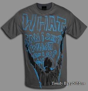 "NWT Christian ""WHAT"" Mens/Boys Grey T-Shirt L/XL NICE"