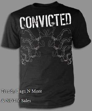 "NWT Christian ""CONVICTED"" Mens/Boys Gray T-Shirt L/XL"