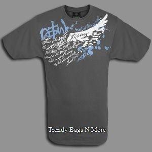 "NWT Christian ""WAIT"" Mens/Boys Gray T-Shirt L/XL"
