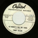 Tommy Collins  I'm Nobody's Fool But Yours  Capitol 3789  PROMO  Country 45 rpm Record