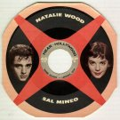 Natalie Wood  Sal Mineo  Rainbo Records  1957 Fan Magazine  HEAR INC  45 rpm Cardboard Picture Disc