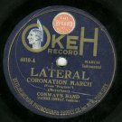 Conway's Band  Coronation March   OKEH 4010  78 rpm  Record