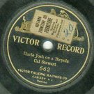 "Cal Stewart  Uncle Josh On A Bicycle  1902  VICTOR 662  Record  7"" Diameter  One-Sided"