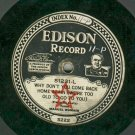 Manuel Romain  EDISON 51231  Record   1/4&quot; Thick  78 rpm