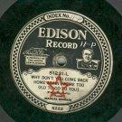 "Manuel Romain  EDISON 51231  Record   1/4"" Thick  78 rpm"