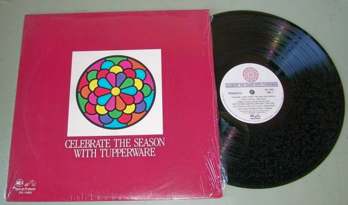 Celebrate The Season With Tupperware Christmas Record w/ Elvis Presley, Nat King Cole,Feliciano