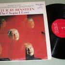 Artur Rubinstein  The Chopin I Love  Classical Record LP