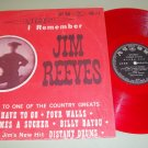 Bobby Bond Sings Tribute I Remember Jim Reeves RED Vinyl  Japan Issue