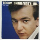 Bobby Darin  That's All  ATCO EP-4504  Mack The Knife Record