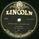 Ray Hamilton  Addy Britt LINCOLN 1120 78 rpm Record