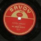 Hal Singer Sextette  Corn Bread  SAVOY 671  Jazz Record 78 rpm