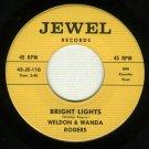 Weldon & Wanda Rogers Country 45 rpm Record JEWEL 110