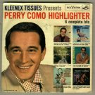 Perry Como Highlighter RCA SPD-28  EP 45 rpm Record w/ Pic Slv