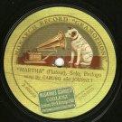 """Caruso And Journet Martha MONARCH 12"""" Record 78 RPM"""