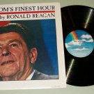 Ronald Reagan Narrates Freedom's Finest Hour Record LP
