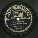 Harry Cove  I Am Thinking Of You Bonnie Mary BEKA-GRAND-RECORD 41448