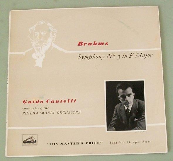 """Brahms Sym No 3 Guido Cantelli HMV 1083 10"""" Record"""