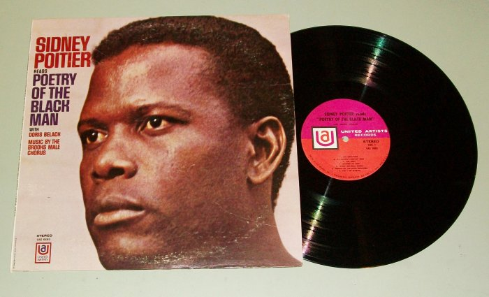 Sidney Poitier Reads Poetry Of The Black Man Record LP