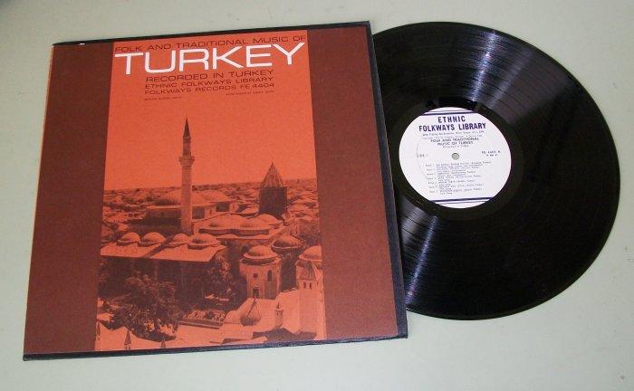 Folk And Traditional Music Of Turkey FOLKWAYS FE 4404