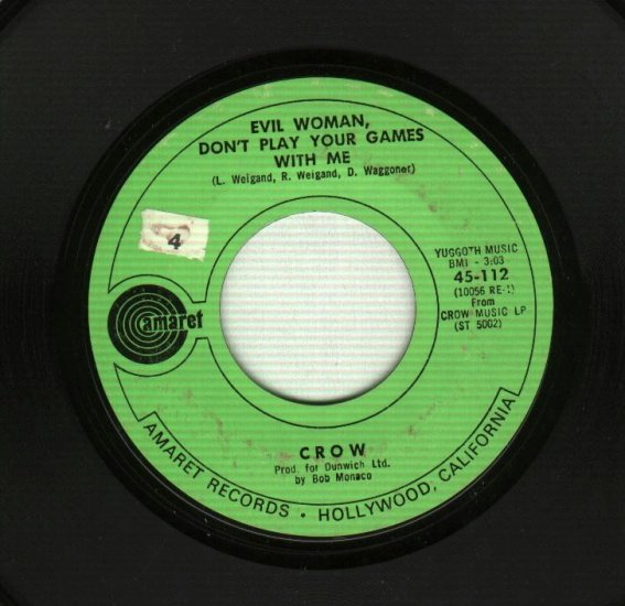 Crow - Evil Woman / Gonna Leave A Mark - 45 rpm Record