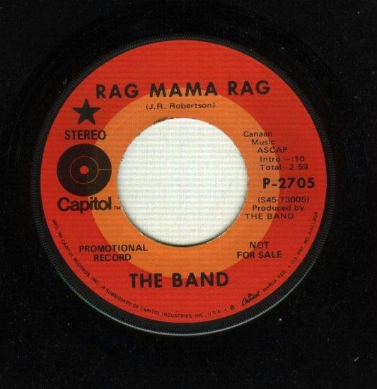 The Band - Rag Mama Rag - PROMO 45 rpm Capitol 2705