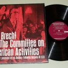Bertolt Brecht Un-American Activities Record LP FD-5531