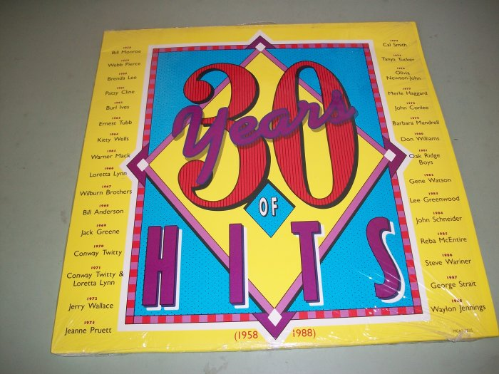 30 Years Of Hits 1958-1988 - Various Artist - Country Pop  - 2 Record Set