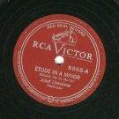 """Josef Lhevinne Etude in A Minor -  78 rpm 12"""" Record"""