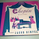 Jacob Gimpel Chopin Recital VOX 604 - 4 Record Set 78 rpm