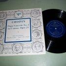 """Chopin Concerto No. 2 - Radio Zurich Orch. - 10"""" Record LP"""