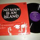 No Man Is An Island And Other Poems David Allen LP