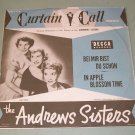 """The Andrews Sisters 10"""" Decca DU-1505 Record & pic slv"""