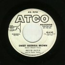 Hutch Davie Sweet Georgia Brown Promo 45 Record