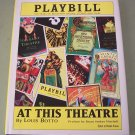 Playbill  At This Theatre by Louis Botto  Broadway Stories