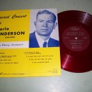 Earle Anderson  Sacred Concert  Record LP SACRED 7041