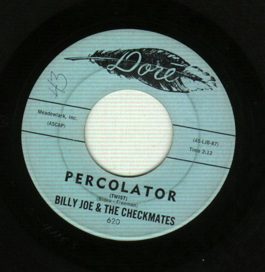 Billy Joe The Checkmates Percolator Twist Round Round Round Round