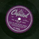 Julia Lee - The Glory Of Love / Take It Or Leave It - CAPITOL 70006- 78 rpm Blues Record