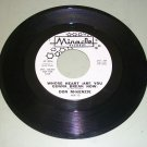 Don McKenzie - Whose Heart / I'll Call You - MIRACLE MIR-10  Supremes PROMO