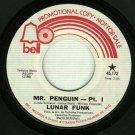 Lunar Funk - Mr. Penguin - 45 rpm Soul Record PROMO