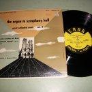 """Reginald Foort - Organ In Symphony Hall - COOK 1055 - Rare 10"""" Classical Record"""
