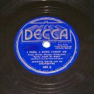Johnnie Davis I Feel A Song Comin' On 78 rpm Record