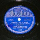 Louis Prima Danger Love At Work Jazz 78 rpm Record
