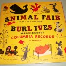 Burl Ives Animal Fair Songs For Children 78 rpm  2 Records