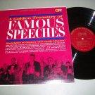 Treasury Of Famous Speeches - Churchill Stalin Hitler - Record LP